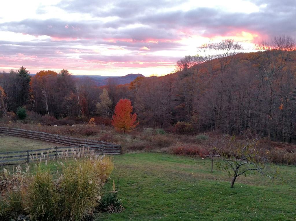 Enjoy Autumn sunset from our deck